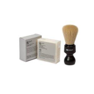 prezent dla mężczyzny, zestaw insight, prezent do golenia, mydło w kostce, pędzel do golenia