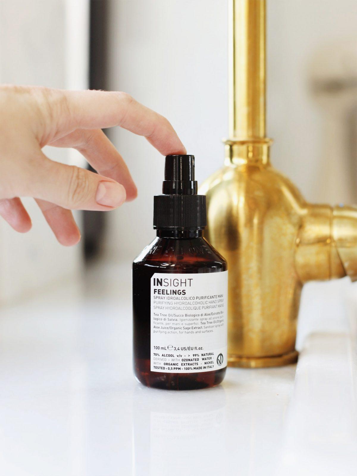 dezynfekujący spray do rąk, dezynfekcja rąk, dezynfekujący spray do powierzchni, dezynfekujący spray do rąk i powierzchni insight feelings