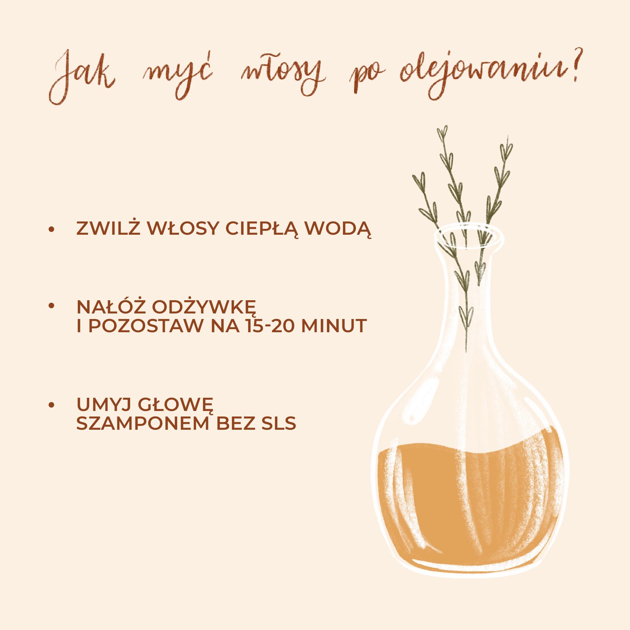 Jak zmyć olej z włosów?